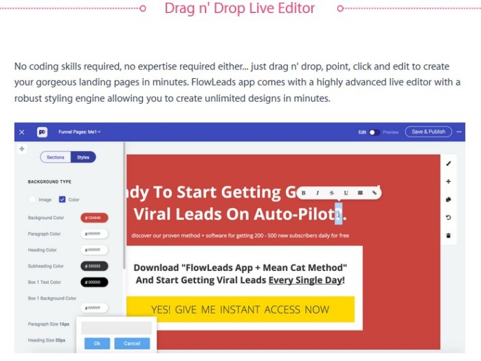 FlowLeads App Viral Email List Building Software by Precious Ngwu d