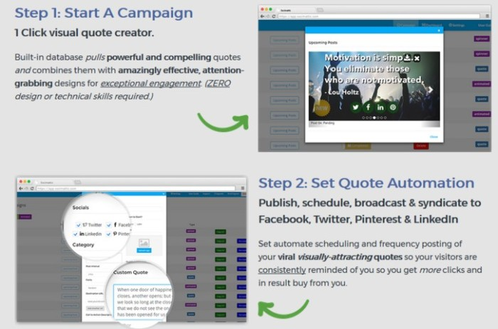 Socimattic Automated Visual Quote Creator Software by Brett Ingram and Mo Latif step1
